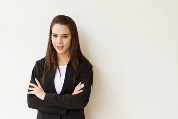 confident and smart female business executive