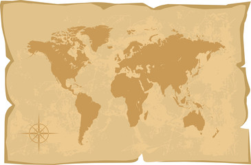 world map old style