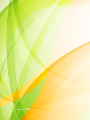 Abstract green wave modern eco template