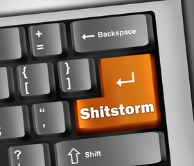 "Keyboard Illustration ""Shitstorm"""