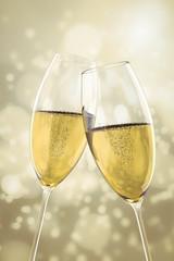 2 Champagne glasses