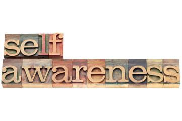 self-awareness word in wood type