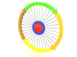 Arrows in different colors as a circle on a white background №6