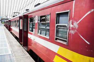 belgische Eisenbahn vor der Abfahrt