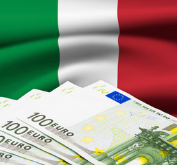 Italian Euro Bills