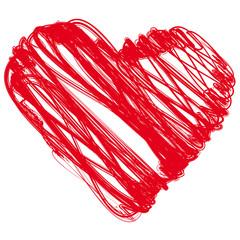 Herz gemalt