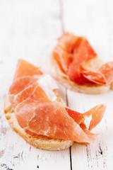 serrano jamon Cured Meat and ciabatta