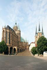 Fototapete - Dom St. Marien und St. Severi Erfurt - 2