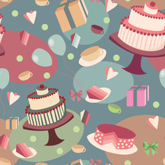 festive seamless background with sweets