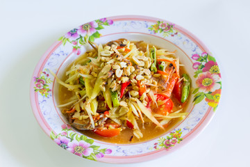 Thai papaya salad food