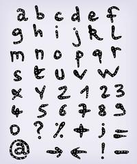 Doodle Complete Hand Drawn Alphabet Set