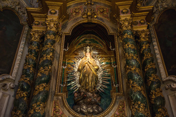 Virgin Mary in La Seu catedral, Majorca, Spain