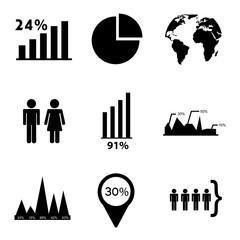 estatistics icons