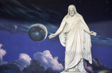 Statue of Jesus Christ at Temple Square, Utah.