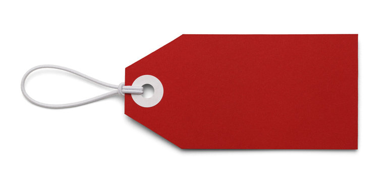 Blank Red Tag