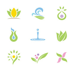 Spa set of logos and icons part II