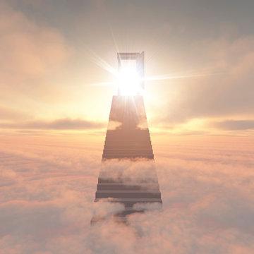 雲の上の階段