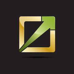 Golden vector Logo abstract geometric form
