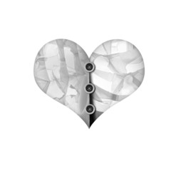 Heart wallpaper isolated white background