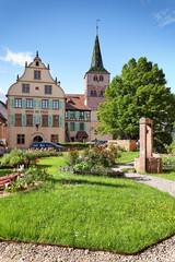 Hotel de Ville und Kirche St. Anna, Turckheim, Frankreich