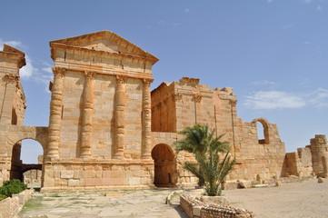Site archéologique de Sbeïtla, temples du Capitole