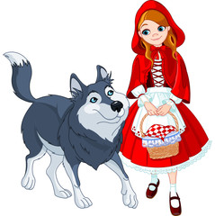 Canvas Prints Fairytale World Little red riding hood and wolf