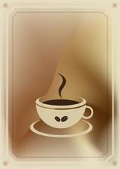 Coffee menu card. Vector vintage illustration flyer.