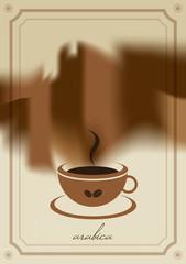 Coffee menu card.