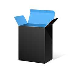 Software Package Box Opened Black Inside Blue