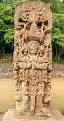 Fototapete - Stela at Copan Ruins