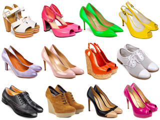 Female footwear collection-7 Wall mural