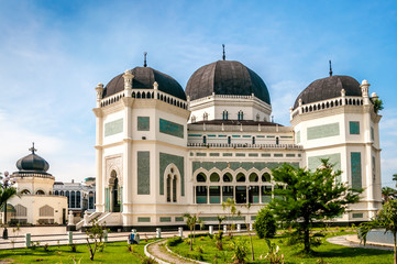 Foto op Canvas Indonesië Grand Mosque Medan