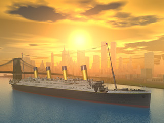 Ocean Liner in New York