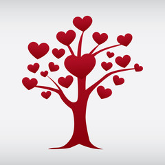 vector love tree isolated