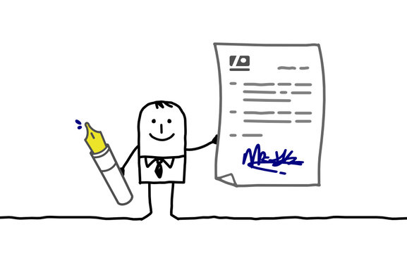businessman & contract