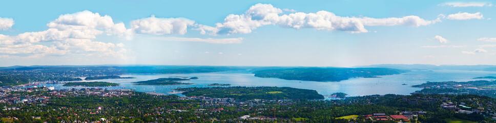 Oslo panorama aereo