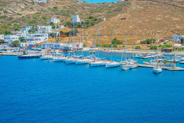 Greece famous Paros island in cyclades,view of paros island with