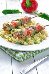 Kebab and Rice
