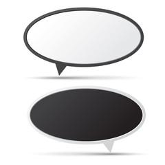 3D bubble talk blackboard.