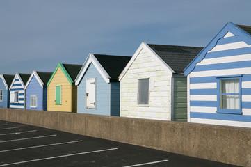 Beach huts on pier