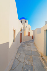 Fototapete - Greece famous Santorini island in cyclades,view of traditional w