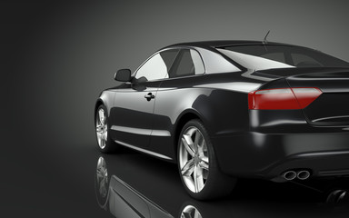 Wall Mural - Black Sport Car