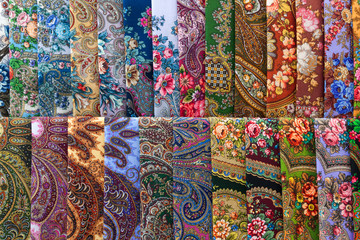 Scarves with floral patterns