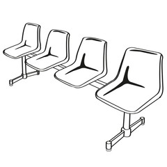 link chairs outline vector