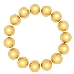 Golden balls in a circle
