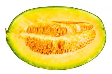 Melon half cut