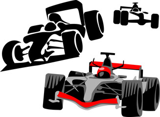 Wall Mural - race car