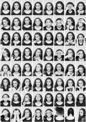 Mosaico de retratos de joven actriz
