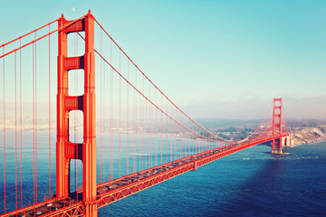 Fotorollo San Francisco Golden Gate Bridge im Abendlicht - San Francisco