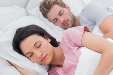 Portrait of a beautiful couple sleeping